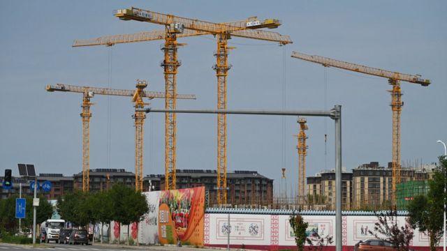北京某恒大房地产项目工地(13/9/2021)