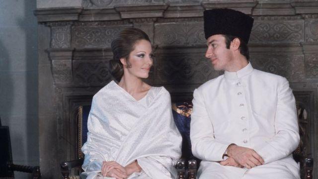 کریم آغا خان اور بیگم سلیمہ کی شادی کی تصویر