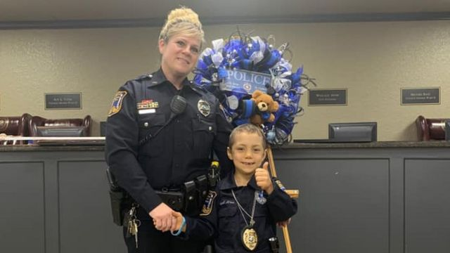 Girl with cancer fulfils wish to become a police officer