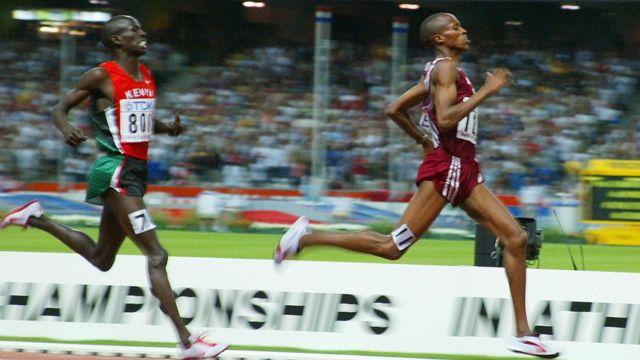 Saif Saaeed Shaheen derrota a Ezekiel Kemboi de Kenia en París