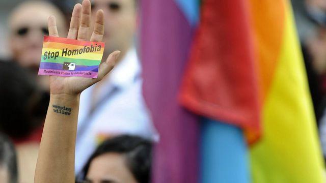 Protesta contra homofobia