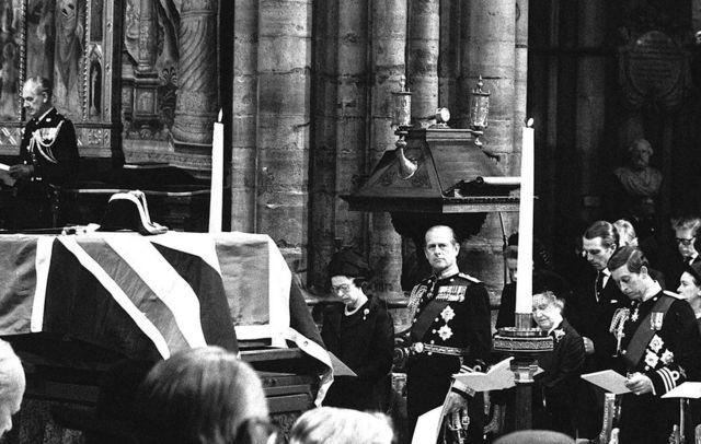 Lord Louis Mounbatten'ın cenaze töreninden. 5 Temmuz 1979