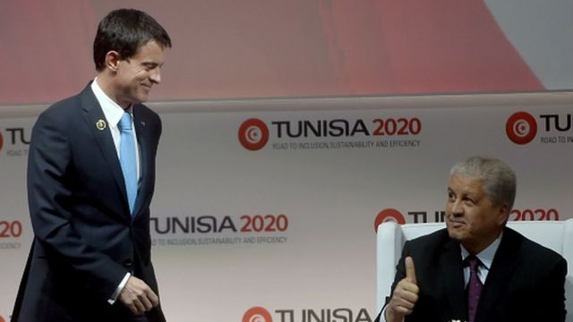 """M. Valls a également indiqué que son pays mettra aussi en œuvre des """"opérations de conversion de la dette tunisienne en projets de développement""""."""