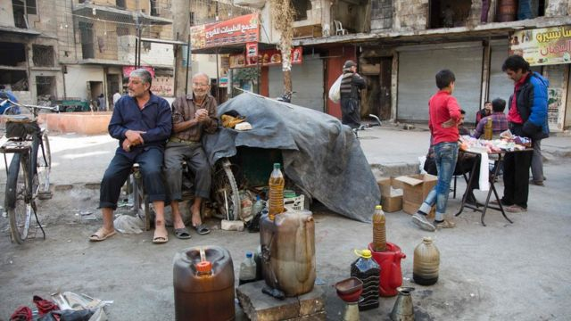 sellers in rebel-held Aleppo