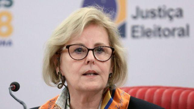 A ministra do STF Rosa Weber, atual presidente do TSE