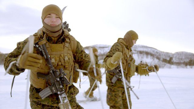 US Marine in Arctic training
