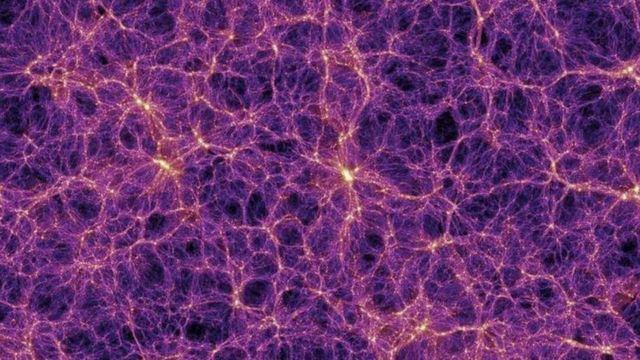 The cosmic network, a complex structure similar to brain neurons, is interconnected.