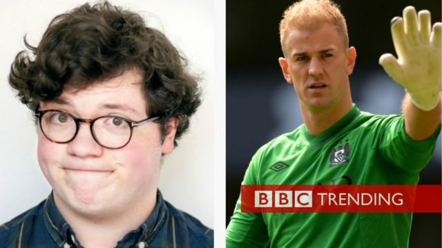 Picture of Joe Hart, England goalkeeper and Joe Hart, Comedian