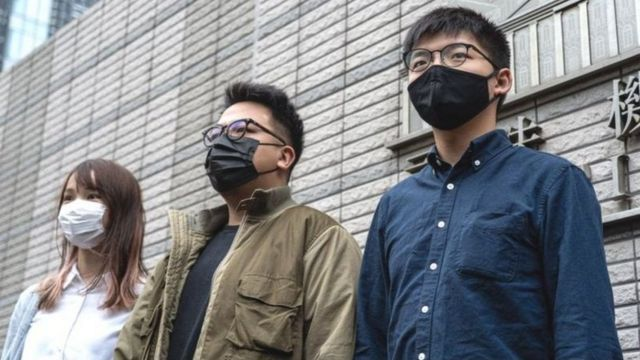 Agnes Chow, Ivan Lam y Joshua Wong son prominentes activistas pro democracia.