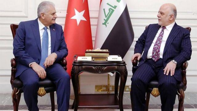 رئيسا الوزراء العراقي والتركي
