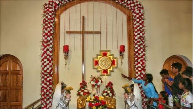 মুসলমানদের মতো খৃষ্ঠানরাও শ্রীলঙ্কায় সংখ্যালঘু একটি গোষ্ঠী