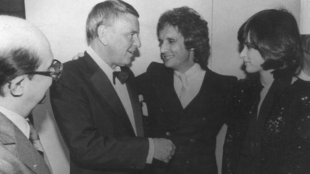 Sinatra com Roberto Carlos e Myrian Rios