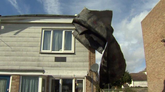 Roof felt falling off roof in Gosport, Hampshire