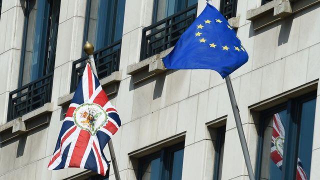 Bandeiras em Bruxelas
