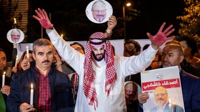 مظاهرة لأنصار خاشقجي