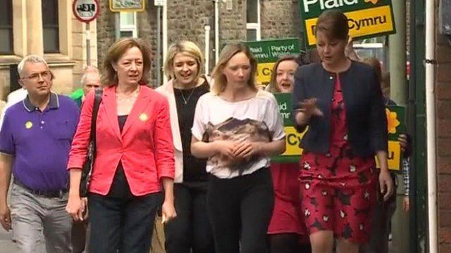 Leanne Wood in Rhondda