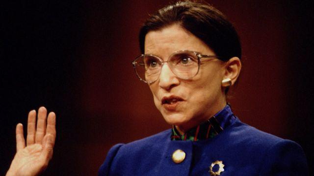 Ginsburg en su audiencia ante el Senado.