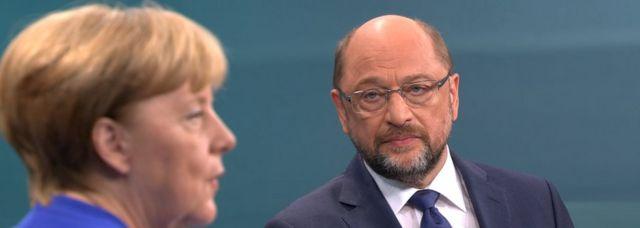 Ангела Меркель и Мартин Шульц