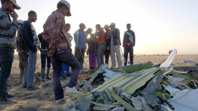 埃塞俄比亞墜機事故現場