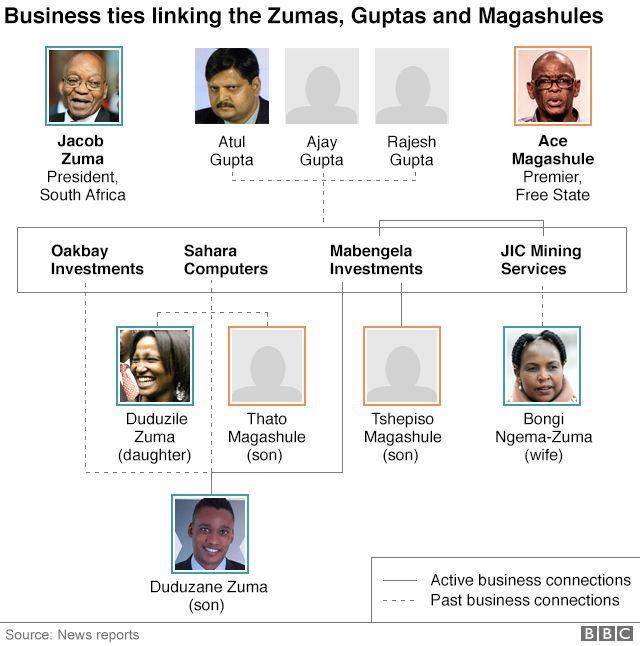 Zumas, Guptas and Magashules tree