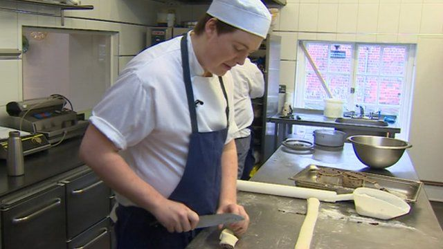 Simpsons apprentice making bread