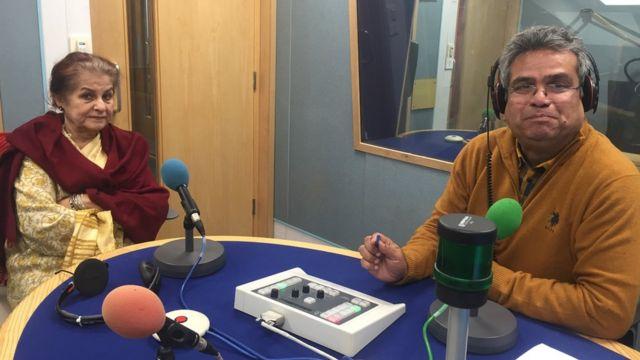 ज़ुल्फ़िकार अली भुट्टो की जीवनी लिखने वाली सैयदा सैयदेन हमीद बीबीसी स्टूडियो में रेहान फ़ज़ल के साथ