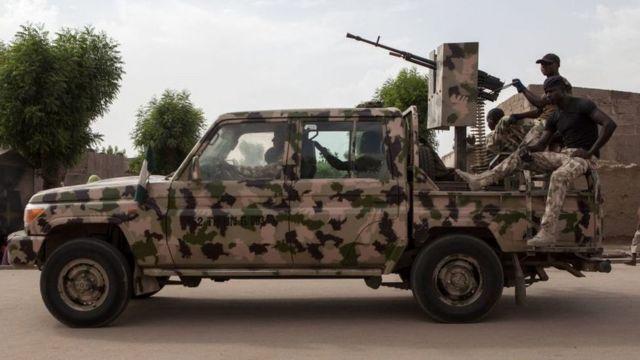 Nijerya ordusuna ait bir araç