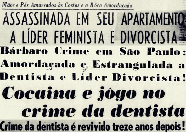 Reprodução de jornal antigo