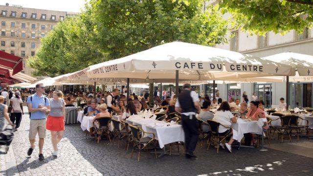 Place du Molard en Ginebra