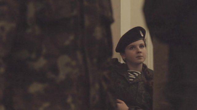 Female soldier in rebel-controlled Ukraine