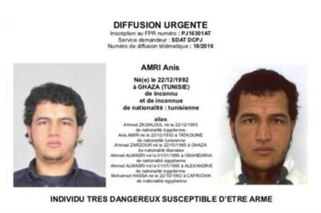 Anis Amri haqqında polis xəbərdarlığının fransız verisyası