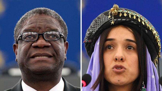Denis Mukwege y Nadia Murad, ganadores del Nobel de Paz 2018