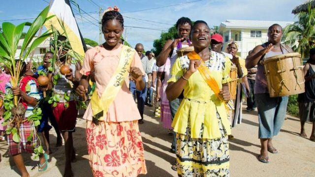 Celebración del Día del Asentamiento Garífuna en Belice