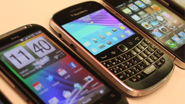 Selection of smartphones