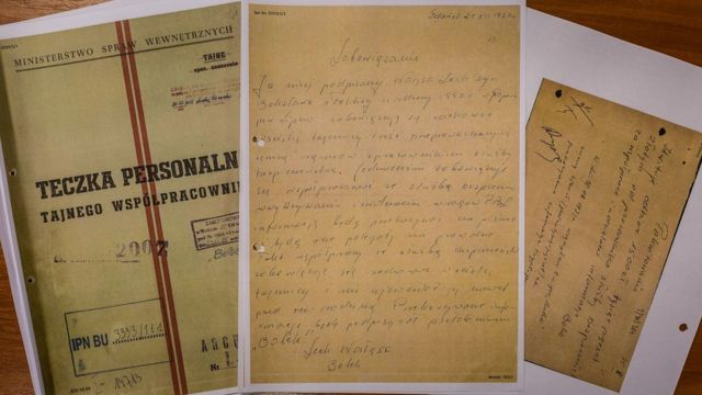documents from communist era intended to prove that Solidarity leader Lech Walesa was collaborating with Polish communist secret service