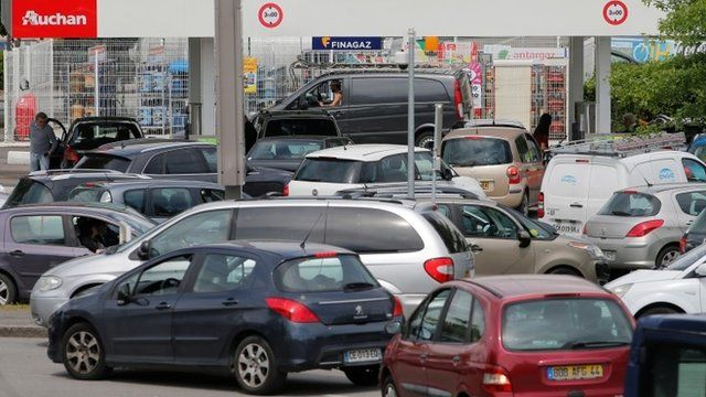 Queues Have Formed At Some Petrol Stations As Lucy Williamson Reports