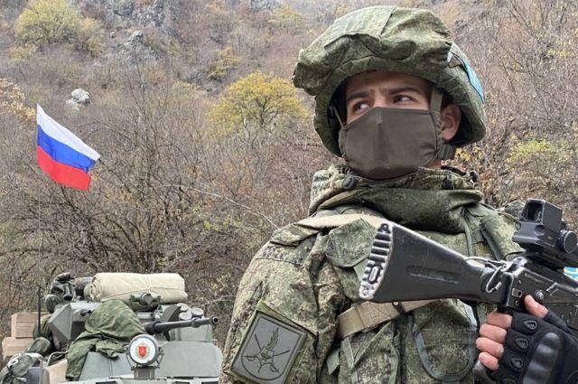 Dadivank'taki Rus barış gücü askerleri