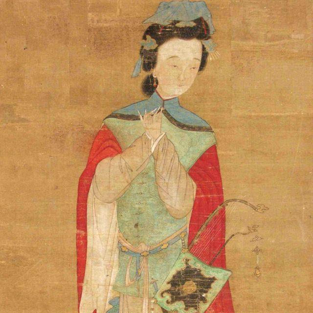 Mulan, imaginada en un dibujo en seda