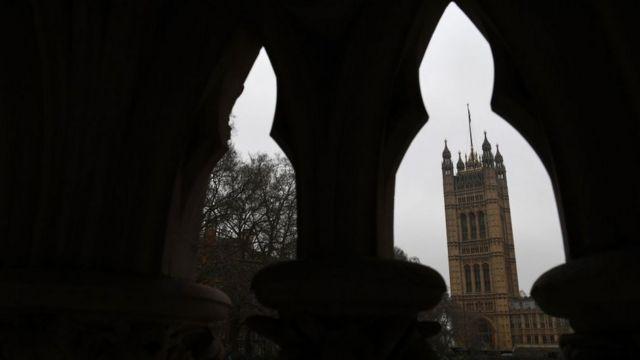 Вид на здания парламента