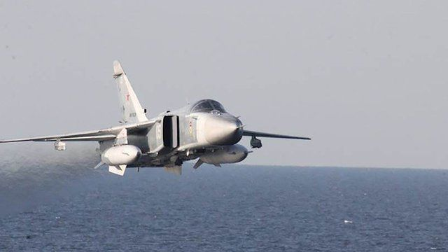 Navy video captures Russian flyby