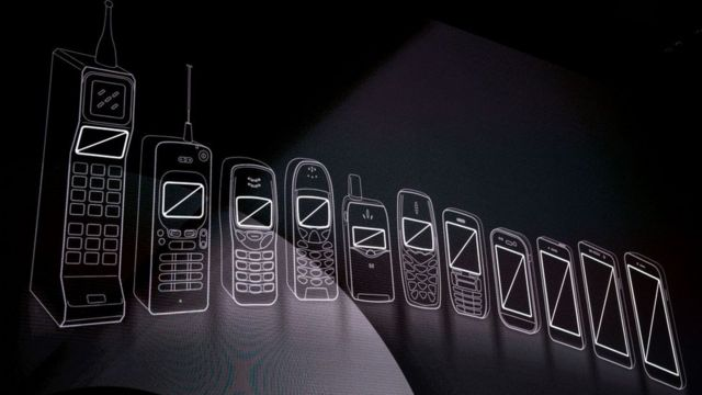 Evolución de los celulares.