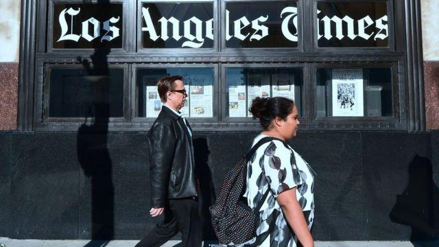 Le Los Angeles Times est l'un des plus célèbres journaux sud-africains