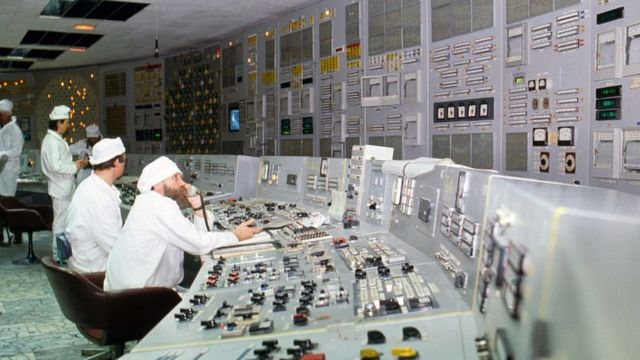 Chernobyl nuclear power plant a few months after the disaster in 1986