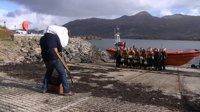 Jack Lowe photographs the Kyle of Lochalsh RNLI crew