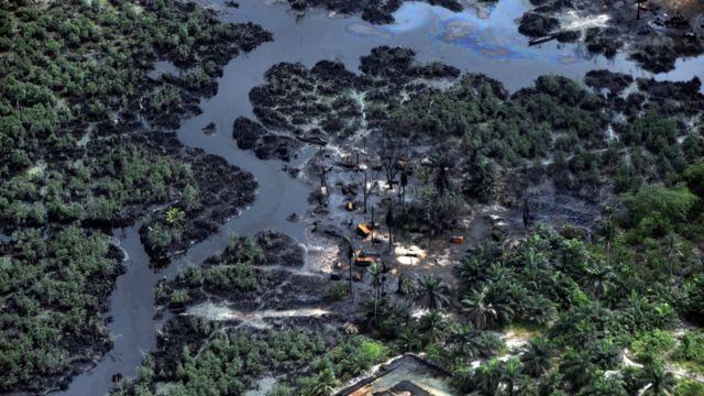 Разлив нефти в дельте Нигера