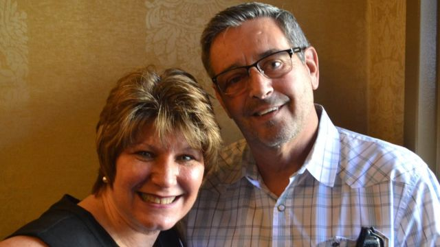 Kathy Murray (left) and her husband