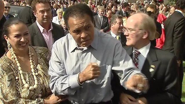 Muhammad Ali in Ennis, County Clare, in 2009