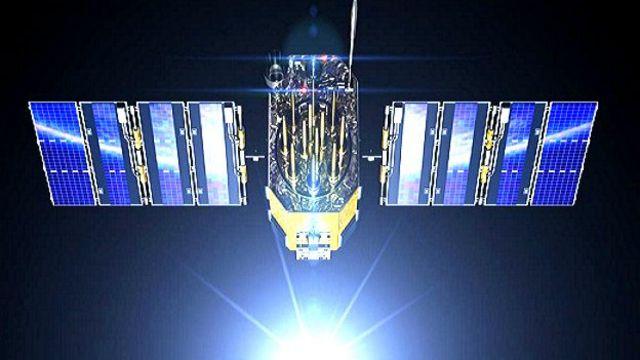 Imagen de un satélite.