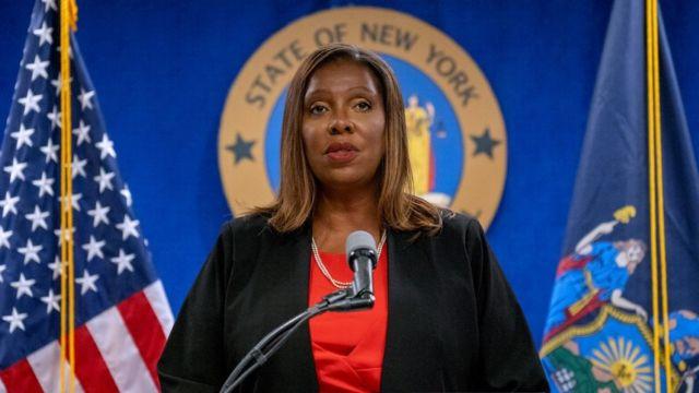 Fiscal general de Nueva York, Laetitia James.