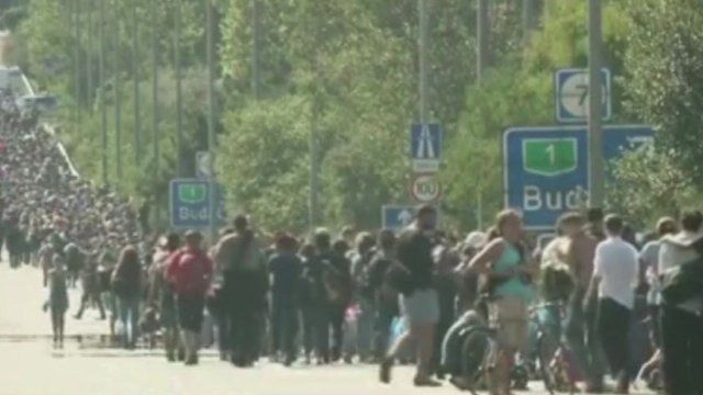 Vast numbers of migrants and refugees make their way to Europe